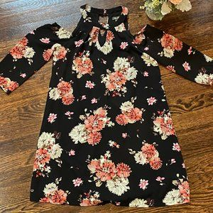 Off the Shoulder 3/4 Sleeve Floral Dress | XS